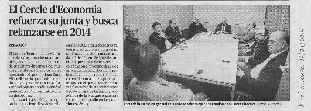 Assemblea CEM Diari Menorca Gener 2014