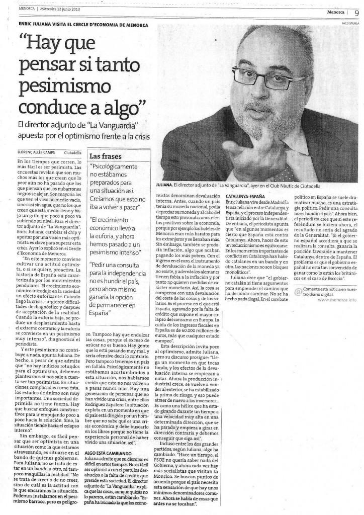 Enric Juliana - Menorca