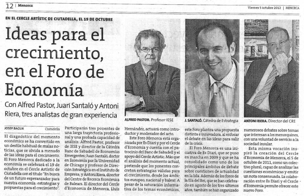 Noticia - Foro Menorca Economia Diari Menorca 05102012 001