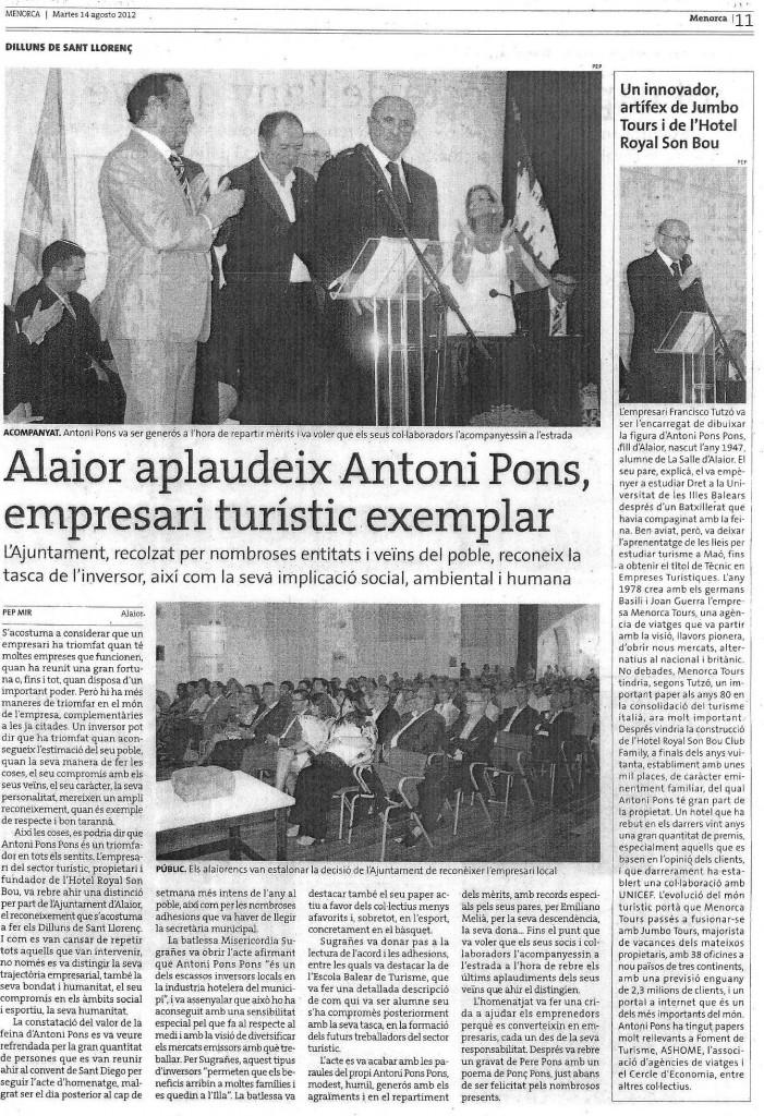 Homenatge Toni Pons (Menorca 14082012)
