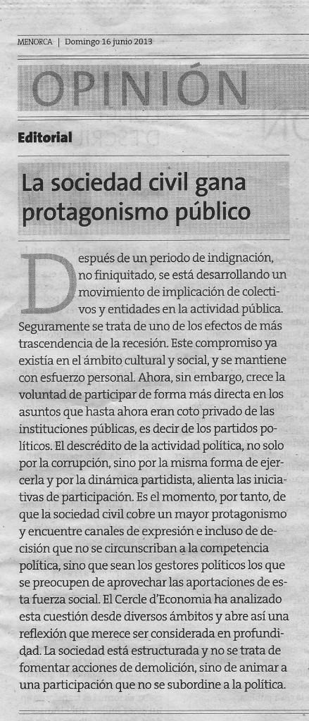 El papel de la sociedad civil